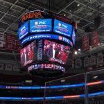 Cameron Jarvis on jumbo screen at PNC arena
